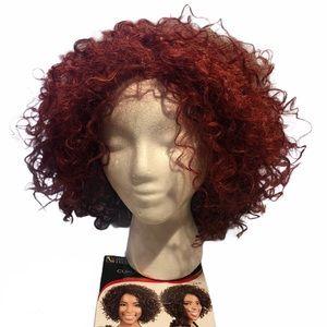 Motown Tress Curly Bob Wig F1B/30 Red New.